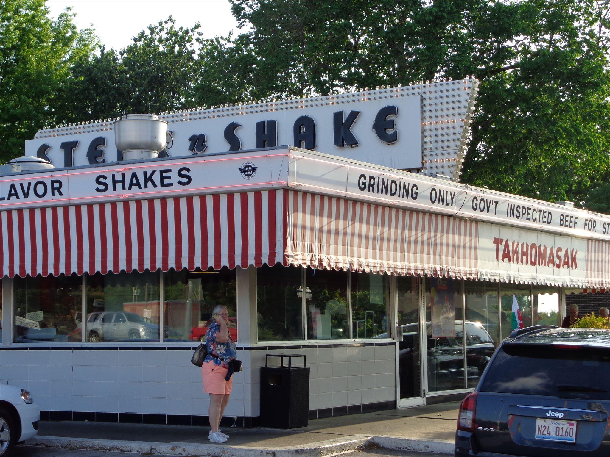 Retro Steak N Shake Route 66 Springfield Missouri Usa Image