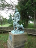 Image for Admiral Peary and one of his sled dogs - Cresson, PA