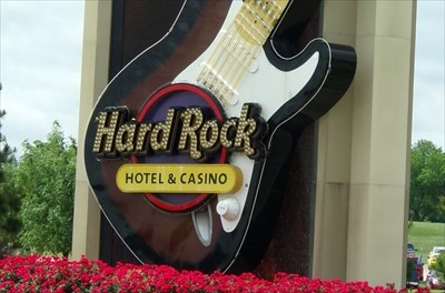 Neon Guitar - Hard Rock Casino - Tulsa, OK.