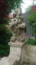"""Image for Löwe neben der Statur von """"Unser gnädig Fräulein Maria"""" - Jever, Germany"""