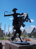 Image for New seating is planned around Bronco Buster statue in Barney Allis Plaza - Kansas City, Mo.