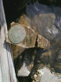 USACE Survey Mark in its new (but very bad) location