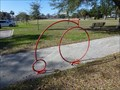 Image for Orange Penny-farthing Bike Rack - Jacksonville, FL