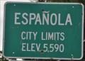 Image for Española, New Mexico ~ Elevation 5590 Feet