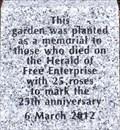 Image for Herald of Free Enterprise Memorial Garden - Marine Parade, Dover, UK