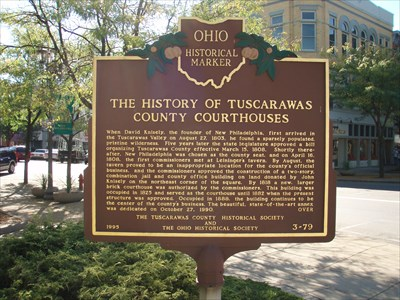 Tuscarawas County Courthouse - Ohio State Historical Marker