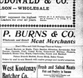 Image for P. Burns and Company- Nelson, BC - 1903