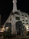 """Image for À Chambéry, les éléphants de la fontaine des """"quatre sans cul"""" dévoilent leurs postérieurs - France"""
