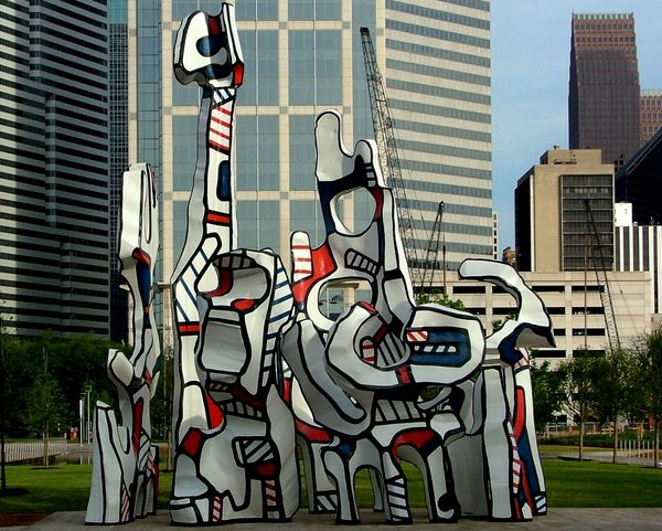Monument Au Fantome Jean Dubuffet Houston Abstract