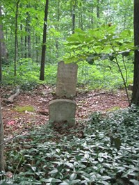 One of 2 inscribed markers: In memory of Martha Threlke(ld)?