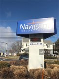 Image for Navigant Credit Union time/temp sign - Cumberland, Rhode Island USA