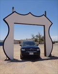 Image for Historic Route 66 ~ Vehicle Photo Frame ~ Topock, Arizona, USA.[