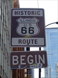 Image for Begin Route 66 Sign - Chicago, Illinois, USA.