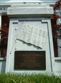 Image for First Confederate Flag Marker and Monument, Louisburg, North Carolina