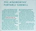 Image for The Ainsworths' Portable Sawmill - 108 Mile House, BC