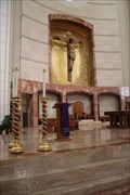 Image for Fonts and Altar -- Co-Cathedral of the Sacred Heart, Houston, TX