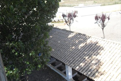 ...the roof of the bath-house from the tower.