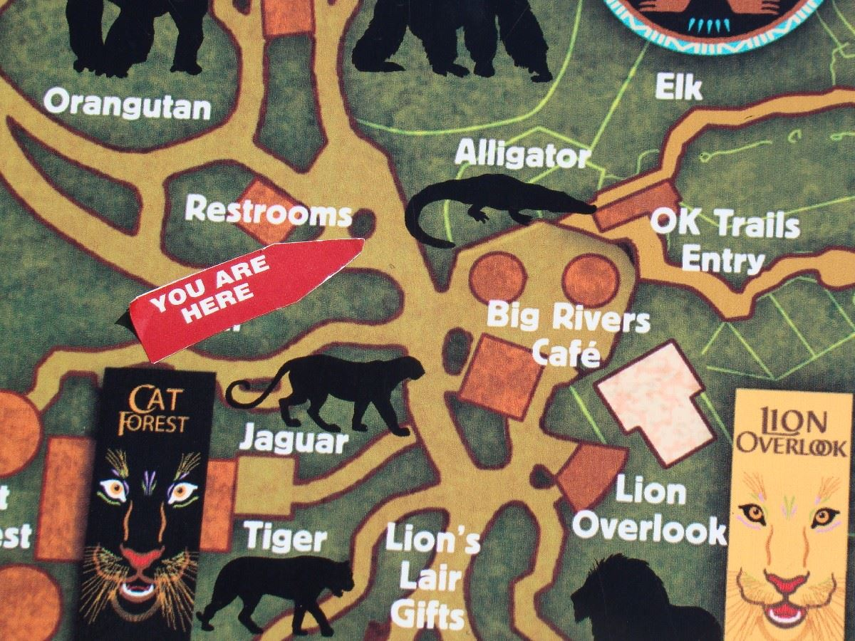 You are Here Map Great EscApe OKC Zoo