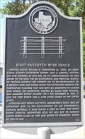Image for First Patented Wire Fence