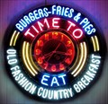 """Image for """"Time to Eat"""" Neon Clock  -  Avalon, CA"""
