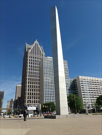 Woodward Avenue (M-1) - Isamu Noguchi's Pylon - Detroit, Michigan.