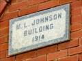 Image for M.L. Johnson Building - 1914 - Nixon, TX