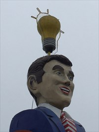 Lightbulb Shop Figure, From the Left, Austin, Texas
