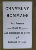 Image for Hommages aux migrants, Chamblay, Jura, France