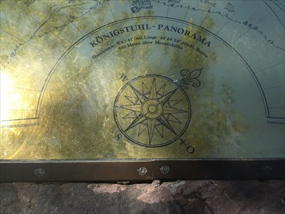 Coordinates and Compass Rose, Heidelberg, Germany