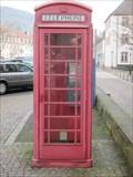 Image for Rote Telefonzelle bei Herz Jesu Kirche - Ettlingen/Germany