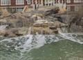 Image for Hall of Pioneers waterfall -- KS Wesleyan University, Salina KS
