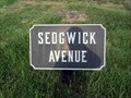 Image for Sedgwick Avenue - Cast Iron Site ID Tablet - Gettysburg National Battlefield Historic District - Gettysburg, PA