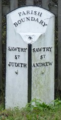 Image for Parish boundary - Great North Road, Sawtry, Cambridgeshire, UK.