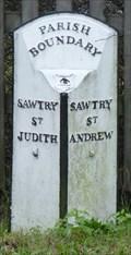 Image for Parish boundary - Great North Road, Sawtry, Cambridgeshire, UK.