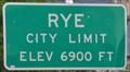 Image for Rye, Colorado ~ Elevation 6900 Feet
