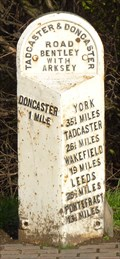 Image for Milestone - A358, York Road, Doncaster, Yorkshire, UK.