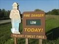 Image for Smokey The Bear Sign - Evart DNR Office, Mi.