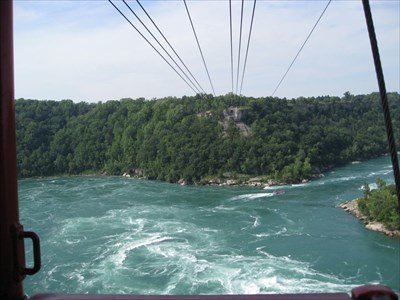 This is the view across the gorge from inside the Aerocar.