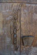 Image for Sword and Alpha and Omega Door Handles - St. Michael - Bechhofen, Germany