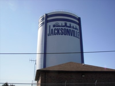 water tower jacksonville illinois newest water tower water towers on. Black Bedroom Furniture Sets. Home Design Ideas