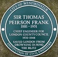 Image for Sir Thomas Peirson Frank Plaque - Victoria Tower Gardens, London, UK