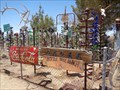 Image for A visit to Elmer Long's Bottle Tree Ranch - Route 66, California.