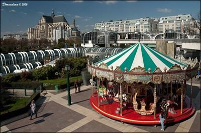 Carrousel At Forum Les Halles In Paris France