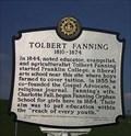 Image for Tenn. Historical Marker for Tolbert Fanning, near the airport in Nashville