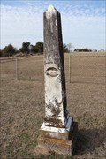Image for OLDEST -- Dated Grave at Newton Cemetery -- Midlothian TX