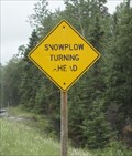 Image for Snowplow Sign - Highway 11, Ontario