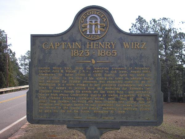 the andersonville camp captain henry wirz s Henry wirz was a confederate soldier who commanded the andersonville prison where union prisoners-of-war died from poor conditions learn more at biographycom.