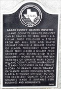 Image for Llano County Granite Industry