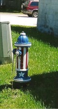 Image for Patriotic Fire hydrant - Bellflower, MO
