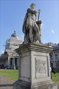 Image for Horace's Odes & Virgil's Aeneid -- Statue of King George II -- Old Royal Naval College, Greenwich, London, UK